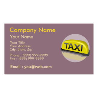 Profession Taxi Driver Pack Of Standard Business Cards