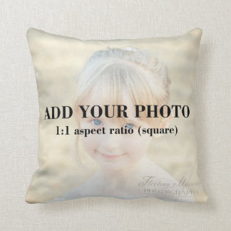 Professional 1x1 Square Add Your Photo Template Cushion