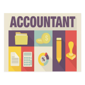 Professional Accountant Iconic Design Postcard