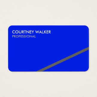 Professional angled blue business cards