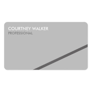 Professional angled silver line business cards
