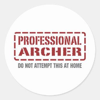 Professional Archer Classic Round Sticker