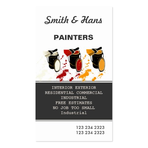 Professional Artist Painter and Painting Services Business Card