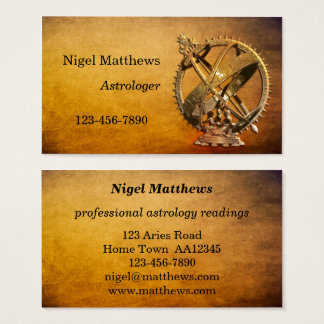 Professional Astrologer Business Card