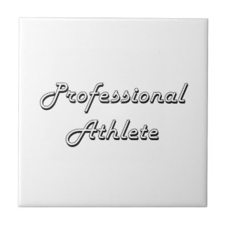 Professional Athlete Classic Job Design Small Square Tile