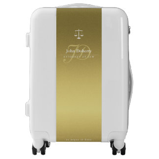 Professional Attorney at Law | Scales of Justice Luggage