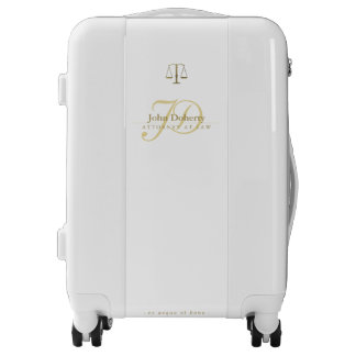 Professional Attorney at Law   Scales of Justice Luggage