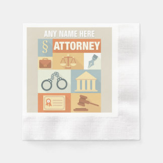 Professional Attorney Iconic Designed Disposable Serviettes