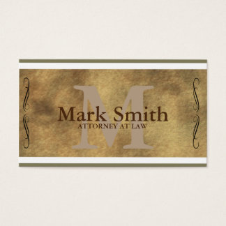 Professional Attorney Law Service Business Card