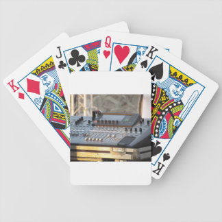Professional audio mixing console bicycle playing cards