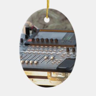 Professional audio mixing console ceramic ornament