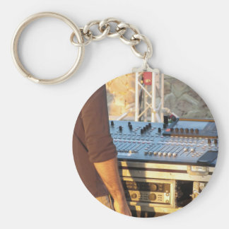Professional audio mixing console key ring