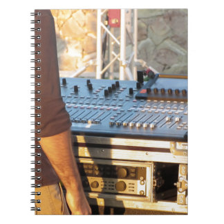 Professional audio mixing console notebook