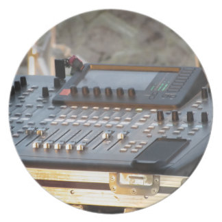 Professional audio mixing console plate