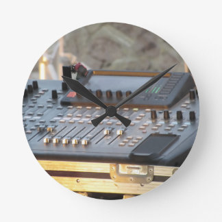 Professional audio mixing console round clock