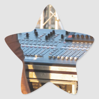 Professional audio mixing console star sticker