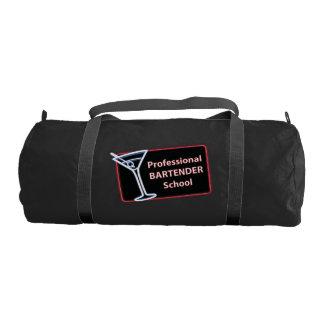 Professional Bartender School Logo Gym Duffle Bag Gym Duffel Bag