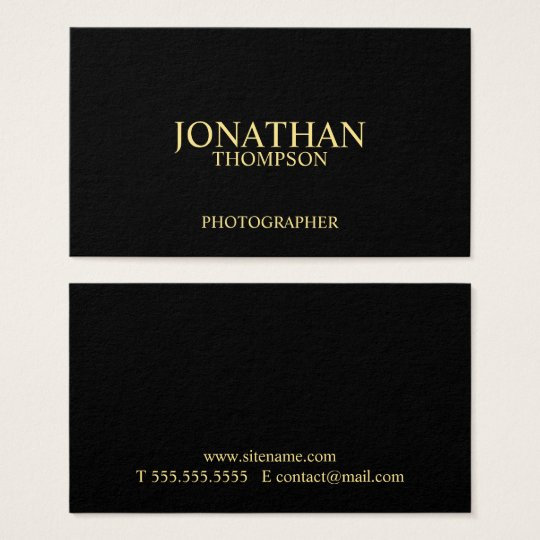 Professional Black and Gold Business Card