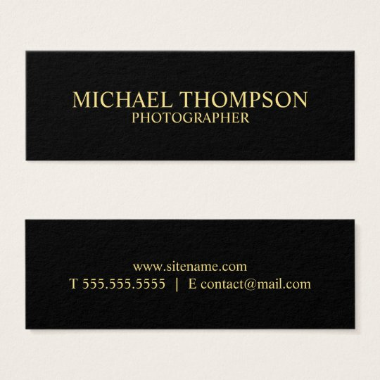 Professional Black and Gold Mini Business Card