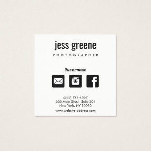 Facebook business cards business card printing zazzle professional black and white social media icons square business card colourmoves