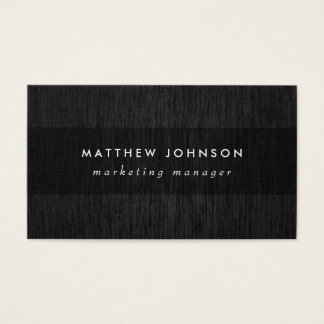 Professional Black Business Card | Band Overlay