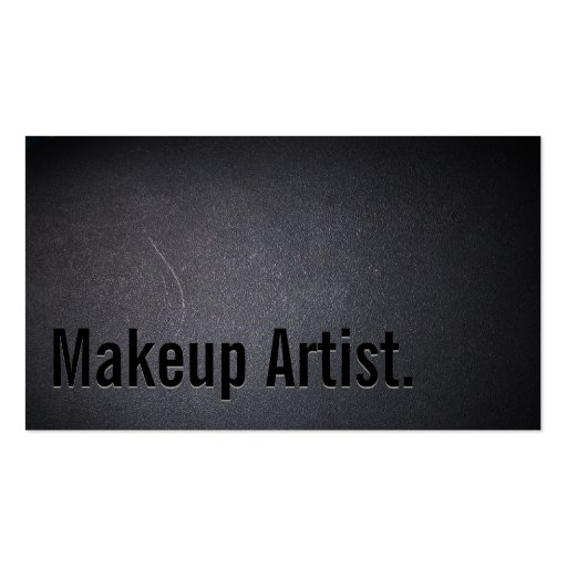 Professional Black Out Makeup Artist Business Card