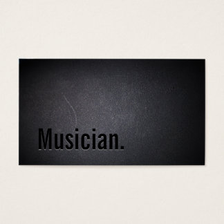 Professional Black Out Musician Business Card