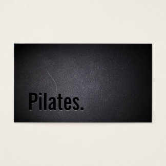 Professional Black Out Pilates Business Card