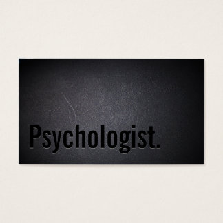 Professional Black Out Psychologist Business Card