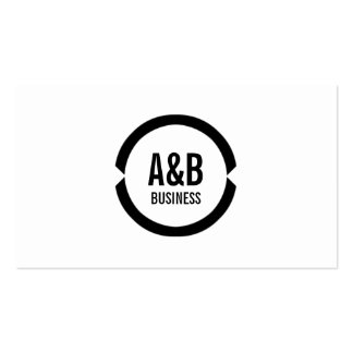 Professional Black Ring Mixologist Business Card