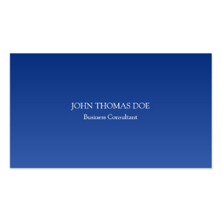 Professional Blue Simple Gradient Hombre Effect Pack Of Standard Business Cards