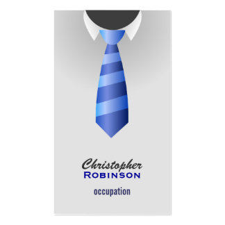 professional blue tie Business cards
