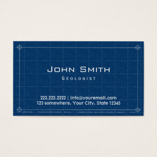 Professional Blueprint Geologist Business Card