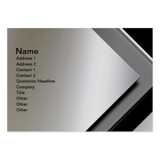 Professional Bold Modern Metal Look Business Cards