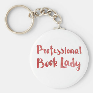 professional book lady key ring