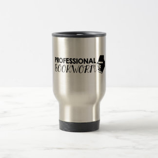 Professional bookworm travel mug