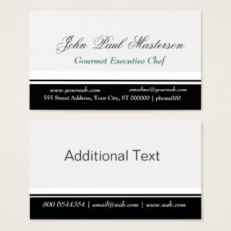 Professional  Border Sharp Black White Design Business Card