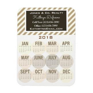 Professional Business 2018 Calendar Magnet
