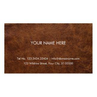 Professional Business Card Faux Leather Brown