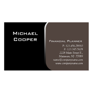 Professional Business Card Financial Planner Taupe