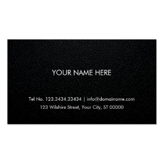 Professional Business Card - Leather Background