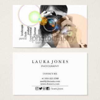 Professional Camera Lens Viewfinder Photography Business Card
