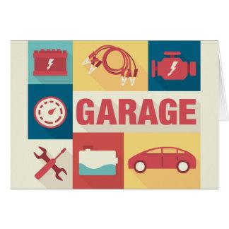 Professional Car Repairman Iconic Designed Card