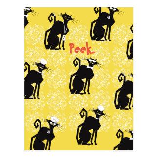 Professional Cats Vert Postcards