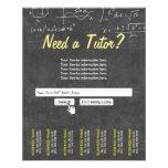 Professional Chalkboard Search Bar Math Tutor 11.5 Cm X 14 Cm Flyer