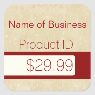 Professional Chic Beige Modern Retail Price Tags Square Sticker