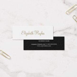 Professional Chic Elegant Minimalist Consultant Mini Business Card