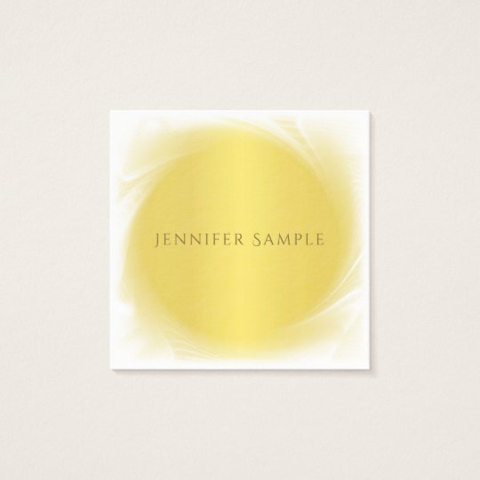 Professional Chic Gold Look Creative Design Luxury Square Business Card