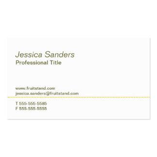 Professional Citrus Business Card
