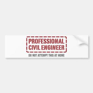 Professional Civil Engineer Car Bumper Sticker